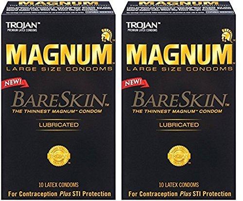 Trojan Magnum Bareskin Lubricated Condoms, 24 Count- (Pack of 2) by Trojan