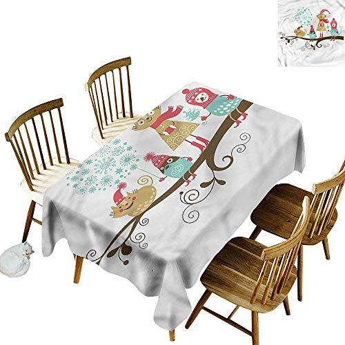 Custom Tablecloth Christmas Animals with Costumes High-end Durable Creative Home 60