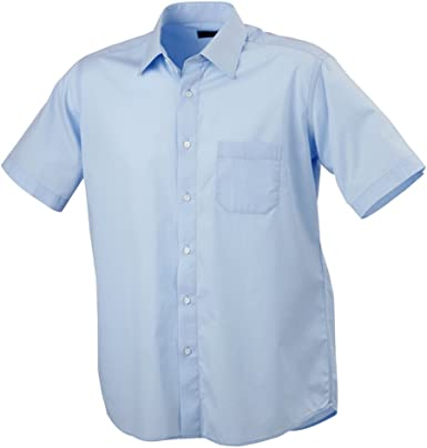 James & Nicholson – Camisa para Hombre popelín Azul Claro Medium: Amazon.es: Ropa y accesorios