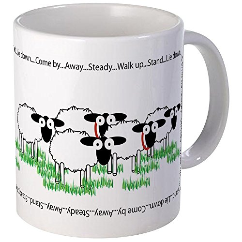 CafePress Working Border Collie & Sheep Mugs Unique Coffee Mug, Coffee Cup ()
