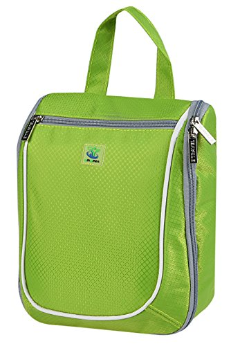 Goldwheat Waterproof Travel Toiletry Bag for Women/Men Cosmetic Travel Organizer Hanging Toiletry Kit, Green