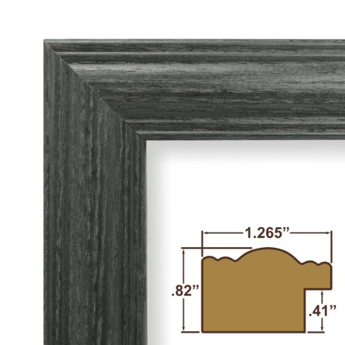 """6x25 Poster Frame, Wood Grain Finish, 1.265"""" Wide, Blue, .093"""" Acrylic, Foamcore (440BL)"""