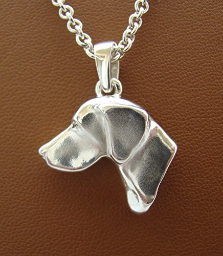 Large Sterling Silver German Shorthaired Pointer Large Head Study - Pointer Shorthaired German Jewelry