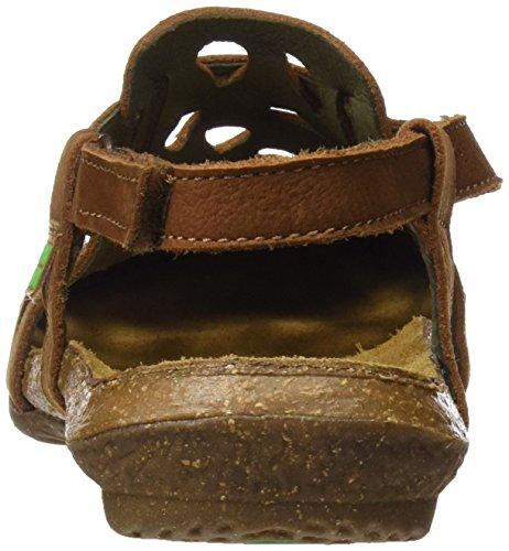 El Naturalista Women's N5063 Closed Toe Sandals Brown (Wood) xYGX2Bgj