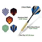 Wolftop 15 Pack Steel Tip Darts 18 Grams with