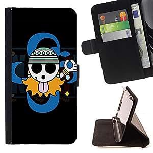 BullDog Case - FOR/Apple Iphone 5 / 5S / - / Cute Gangsta Sign /- Monedero de cuero de la PU Llevar cubierta de la caja con el ID Credit Card Slots Flip funda de cuer