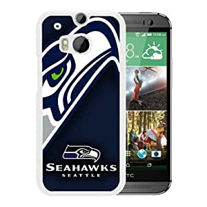 Fashionable And Unique Designed Case For HTC ONE M8 Phone Case With Seattle Seahawks 07 White