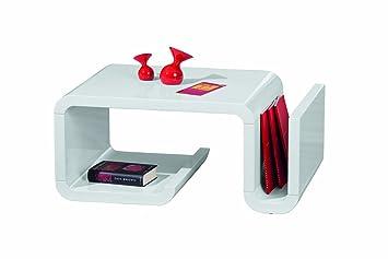 Links 20800820 Couchtisch Weiss Hochglanz Wohnzimmertisch Wohnzimmer Tisch Design Modern 90x60
