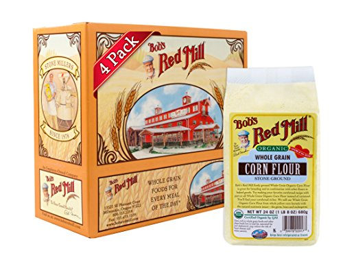 - Bob's Red Mill Organic Corn Flour, 24 Ounce (Pack of 4)