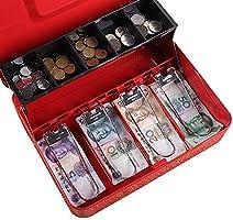 KIKIRon-Home Caja de Efectivo Dinero en Efectivo del cajero Caja del Cambio de la Caja de ahorros Comercial cajero Bolso Shop Caja de Ahorros (Color : Rojo, tamaño : 30X24X9cm): Amazon.es: Hogar