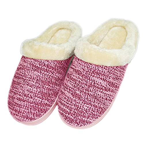Sheep Warm Plush Slipper Indoor Red Soft Sole Women's PaZqT1w