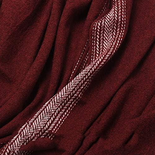 ZOODQ Manica Lunga a Maniche Lunghe Aperta Scialle Leggero da Donna. Pettorina con Frange Avvolgente (Colore : Rosso) Rosso