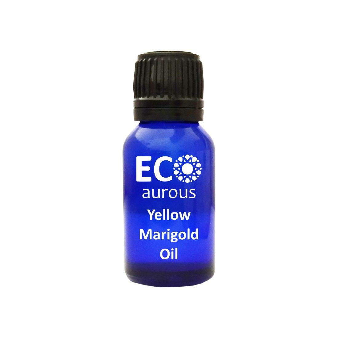 Yellow Marigold Oil 100% Natural, Organic, Vegan & Cruelty Free Essential Oil With Euro Dropper by Eco Aurous (2000 ml)