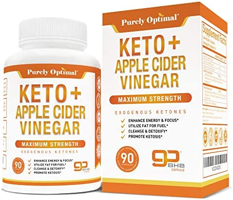 Premium Keto Pills Apple Cider Vinegar Capsules with Mother – Utilize Fat for Energy w Ketosis, Boost Energy Focus, Manage Cravings, Detox, Metabolism Support – BHB Keto Diet Pills for Women, Men