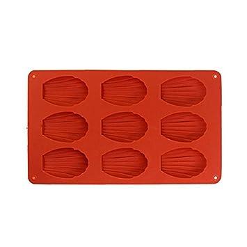vikenner 9 Cavidad Madeleine caseros carcasa de molde de silicona para tartas Chocolate molde cubito de hielo Craft Candy jabón molde para hornear ...