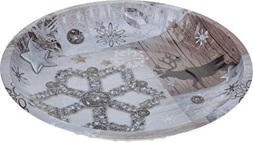 Plätzchenteller - Keksteller - Ø 26cm rund - Weihnachten Deko rund Weihnachtsteller