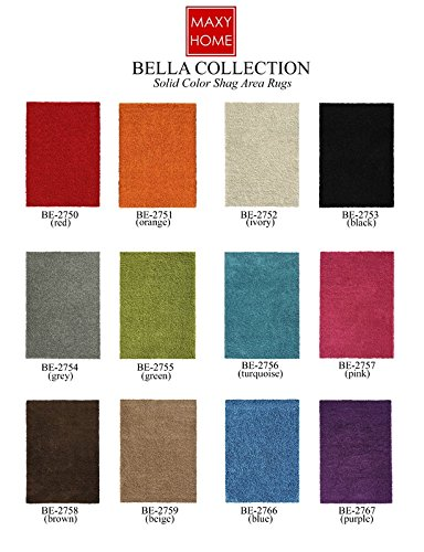 Maxy-Home-Bella-Collection-Solid-Shag-Area-Rugs