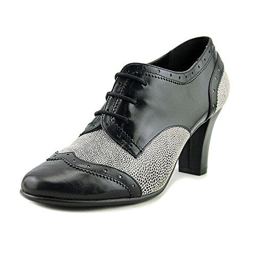 Aerosoles Dollop Women Wingtip Toe Leather Black Oxford