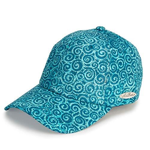 Laurel Burch Teal Swirl Print Baseball Hat -