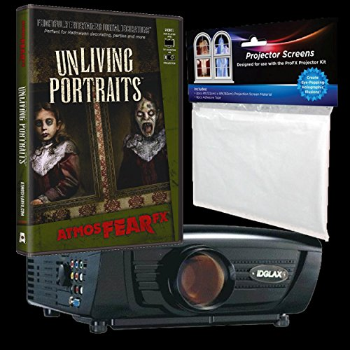 BACK FROM THE GRAVE Digital Halloween Decorations - Digital Galaxy & AtmosFEARfx's Unliving Portraits Bundle Haunted House Video Projection Effects -