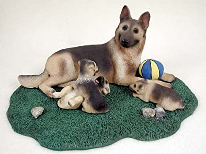 Amazon.com: German Shepherd Figurine Tan-Bk MomPups: Home ...