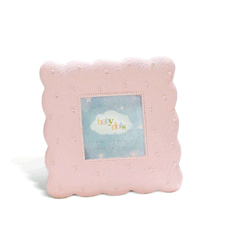 Pink Dotted Baby Picture Frame 2 x 2
