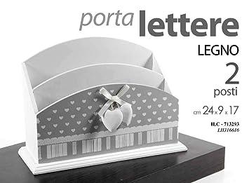 Gicos ILC-713293 - Porta Cartas de Madera con 2 ...
