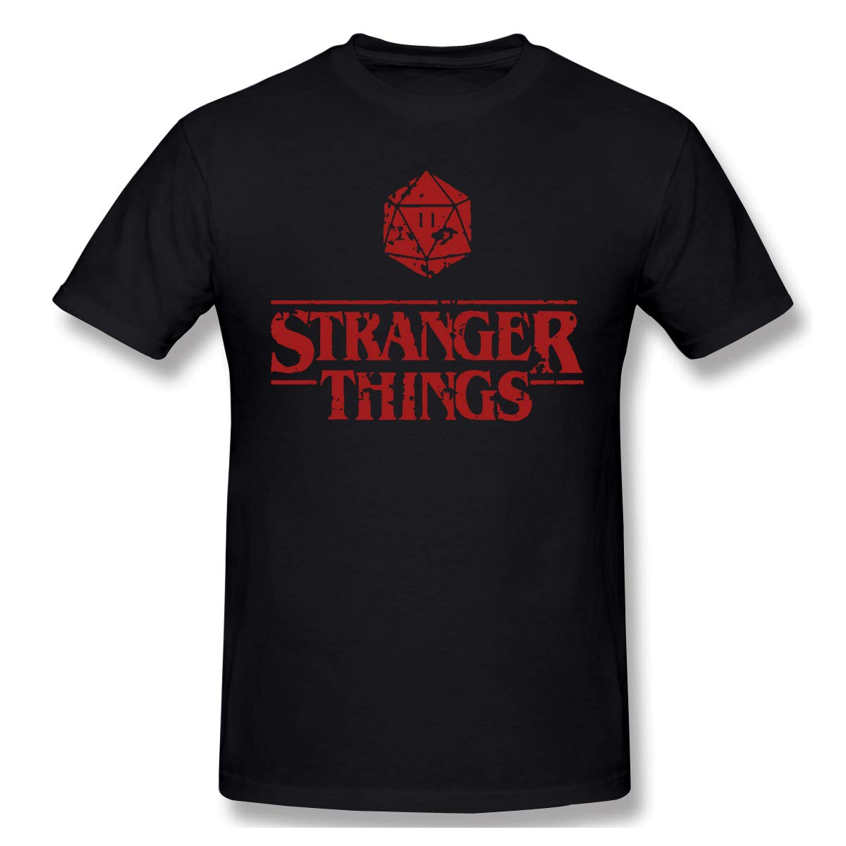 Stranger Things S Short Sleeve Tshirt Novelty Crewneck Athletic Tee Black