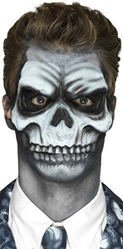 Halloween Horror Prosthetic Foam Latex Half Skull Special Effects Stage Quality Fancy Dress Costume Outfit Make Up Kit (Half Skull) -