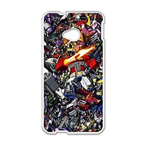 HTC One M7 Cell Phone Case White Transformers Collage OJ427797