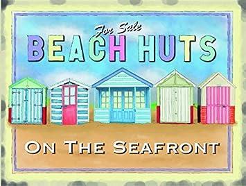 Diseño de casetas de playa a la venta placa metálica Vintage placa metálica con texto en diseño Retro con texto en inglés de casa: Amazon.es: Hogar
