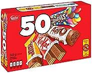 NESTLÉ Mini Halloween Assorted Chocolate & Candy - KITKAT, Coffin Crisp, SCAERO, SCARIES - 505 g (Pack of