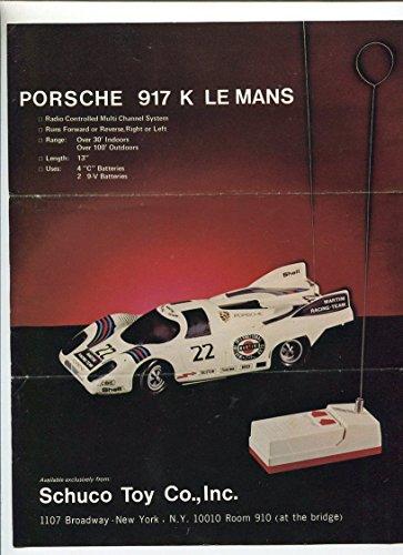 Porsche 917 K Le Mans Schuco Toy Co.,Inc. catalog MBX82
