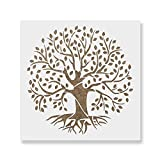 Tree of Life Stencil Template - Reusable Stencil with Multiple Sizes Available