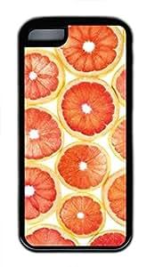 Brian114 iPhone 5C Case - Grapefruit Soft Rubber Black iPhone 5C Cover, iPhone 5C Cases, Cute iPhone 5c Case
