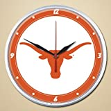 NCAA 2924612 University Of Texas Round Wall Clock, 12.75''