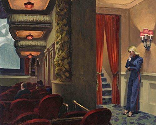 Edward Hopper - New York Movie, Size 24x30 inch, Poster art print wall décor