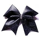 Cheer Bows Black Glittery Bling Hair Bow