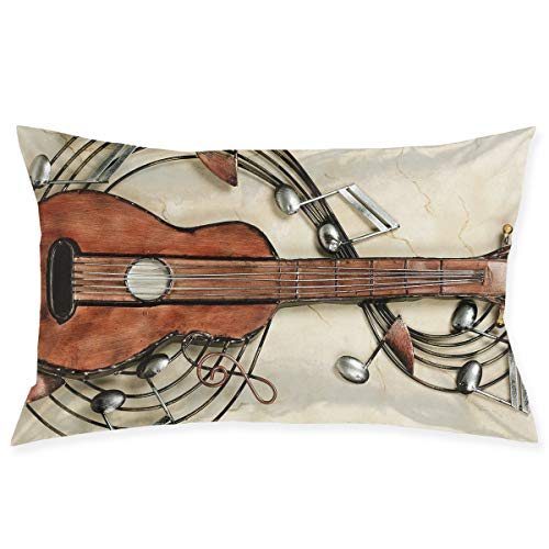 Kidhome 2030 Inch Throw Pillow Cases Violin Music Decorative Pillowcase Cushion Cover for Sofa]()