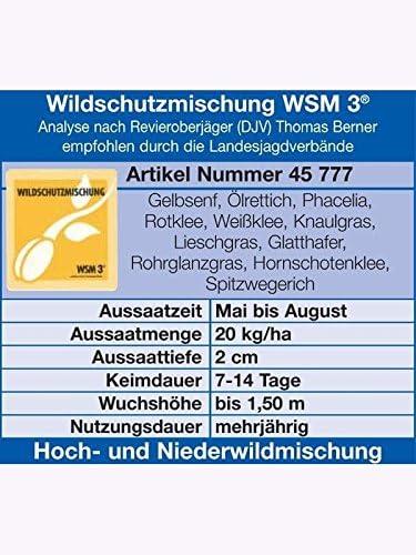 Wildackereinsaat 10 kg WA 30 Wildacker Trio mehrjährig mit Kräuter Jägersaat