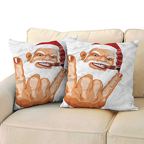 Velvet Pillowcase Christmas Rocker Santa Claus for Sofa Bedroom Car 14