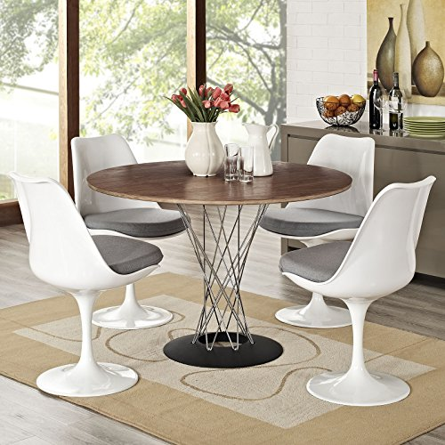 Modway Lippa Modern Dining Four Side Chair Set With Fabric Cushions in Gray by Modway (Image #5)