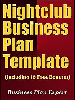 amazoncom nightclub business plan template including 10