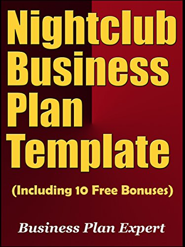 Amazoncom Nightclub Business Plan Template Including Free - Nightclub business plan template