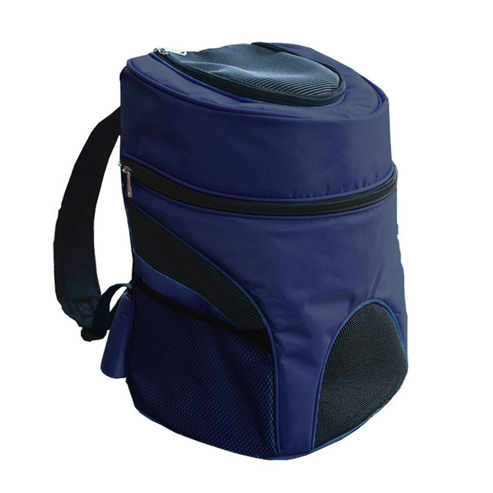 bluee L bluee L HYUE Pet Backpack Breathable Beat Out Portable Travel Bag Cat and Dog Backpack (color   bluee, Size   L)