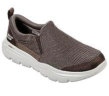 Skechers Men's GO Walk Evolution Ultra-Impeccable Sneaker, Khaki, 10.5 Extra Wide US
