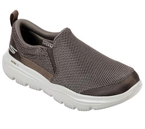 Skechers Men's GO Walk Evolution Ultra-Impeccable Sneaker, Khaki, 12 Extra Wide US