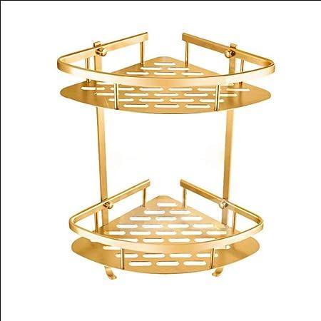 ZHANGKUN Sin punzonado Esquina Soporte estantes de Oro de Matrimonio rincón de Soporte: Amazon.es: Hogar