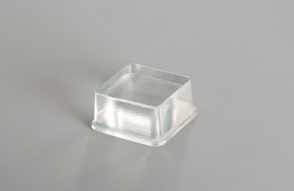 Self-Stick Square Rubber Bumper Pads for Furniture and Electronics .780'' inches (19.8 mm) x .380'' inches (9.7 mm) - 25 pack - BS04 Clear