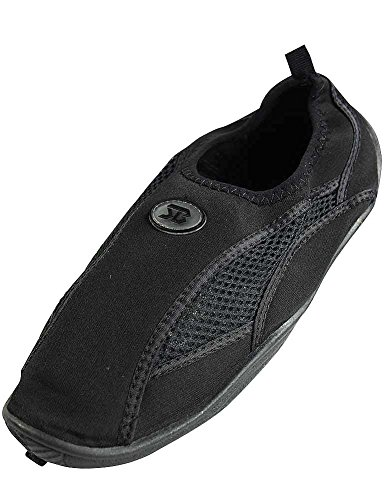 Mens Slip On Water Pool Aqua Sock Nero 5909